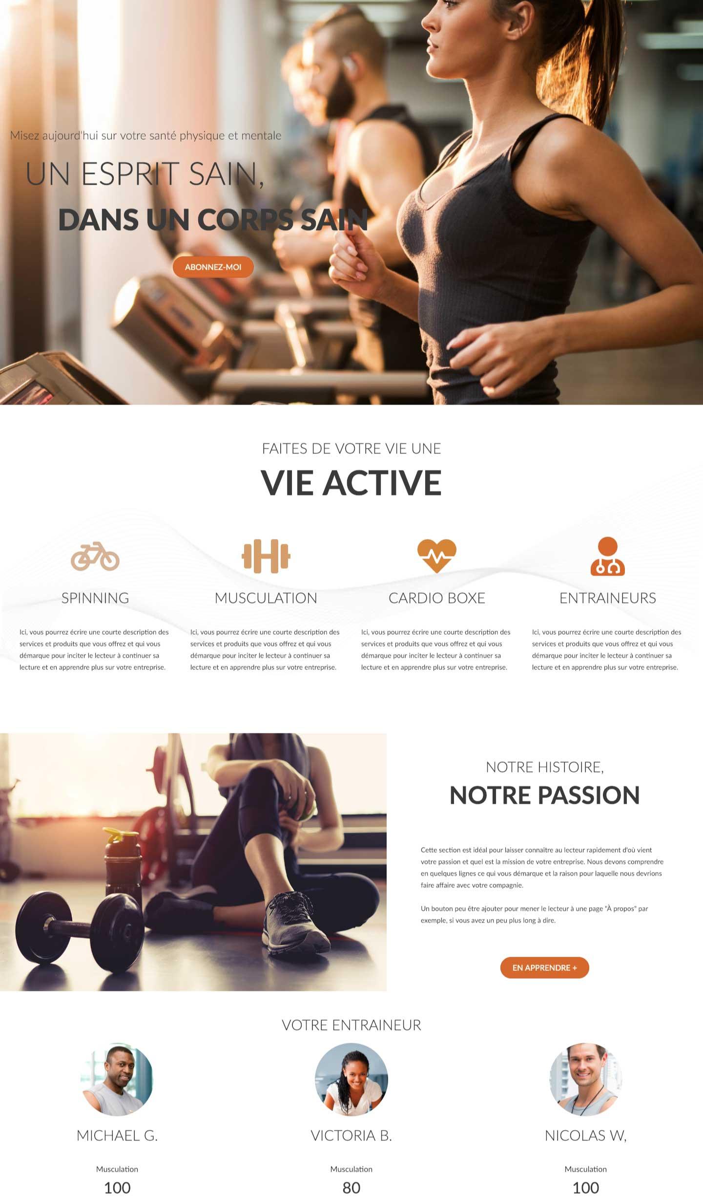 Modele-page-web-Fitness