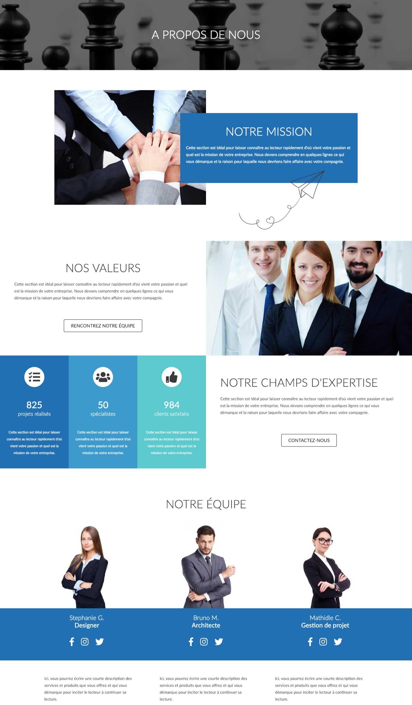 Modele-page-web-a-propos-couleur
