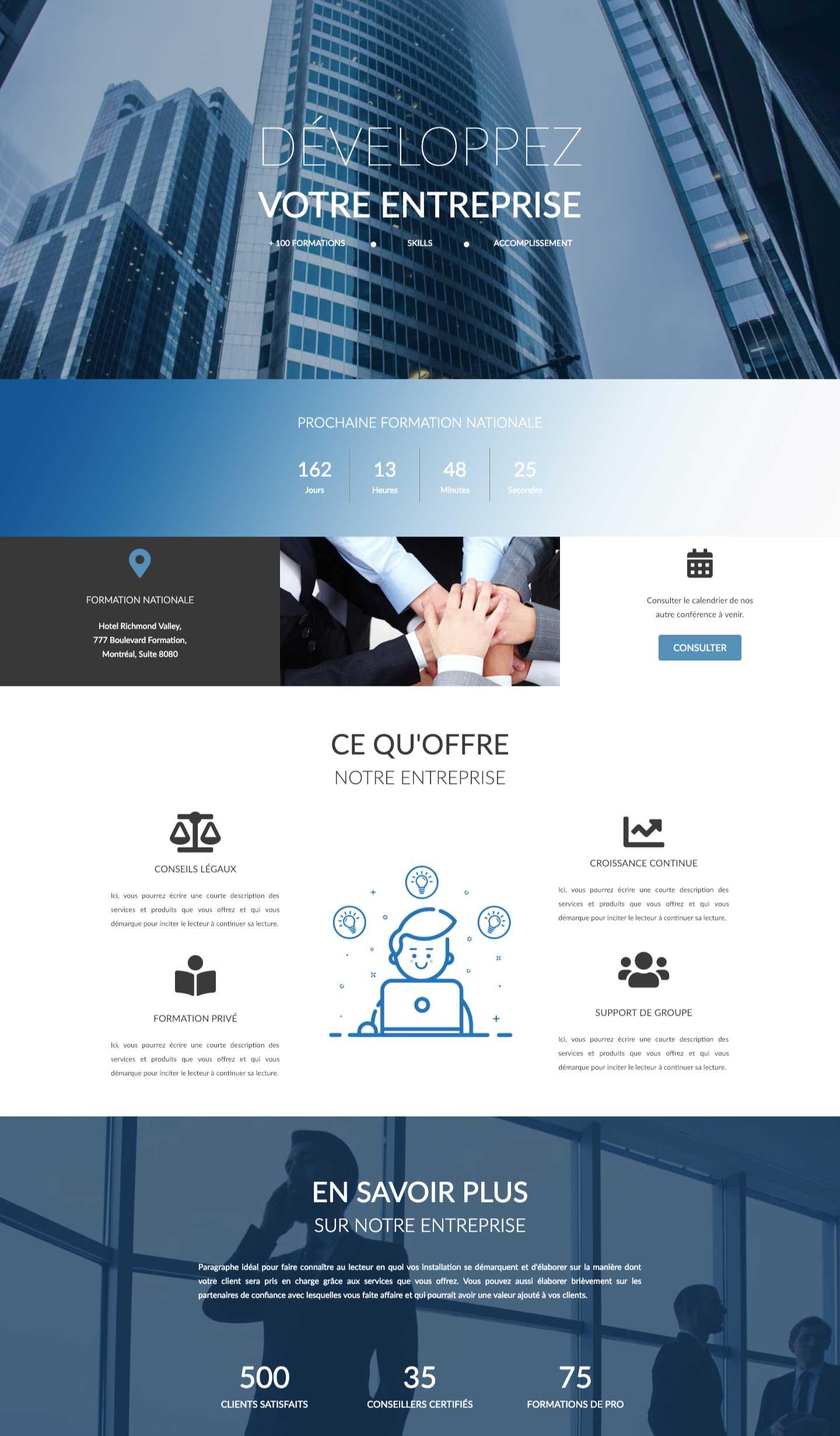 Modele-page-web-corporatif-conception-site-web