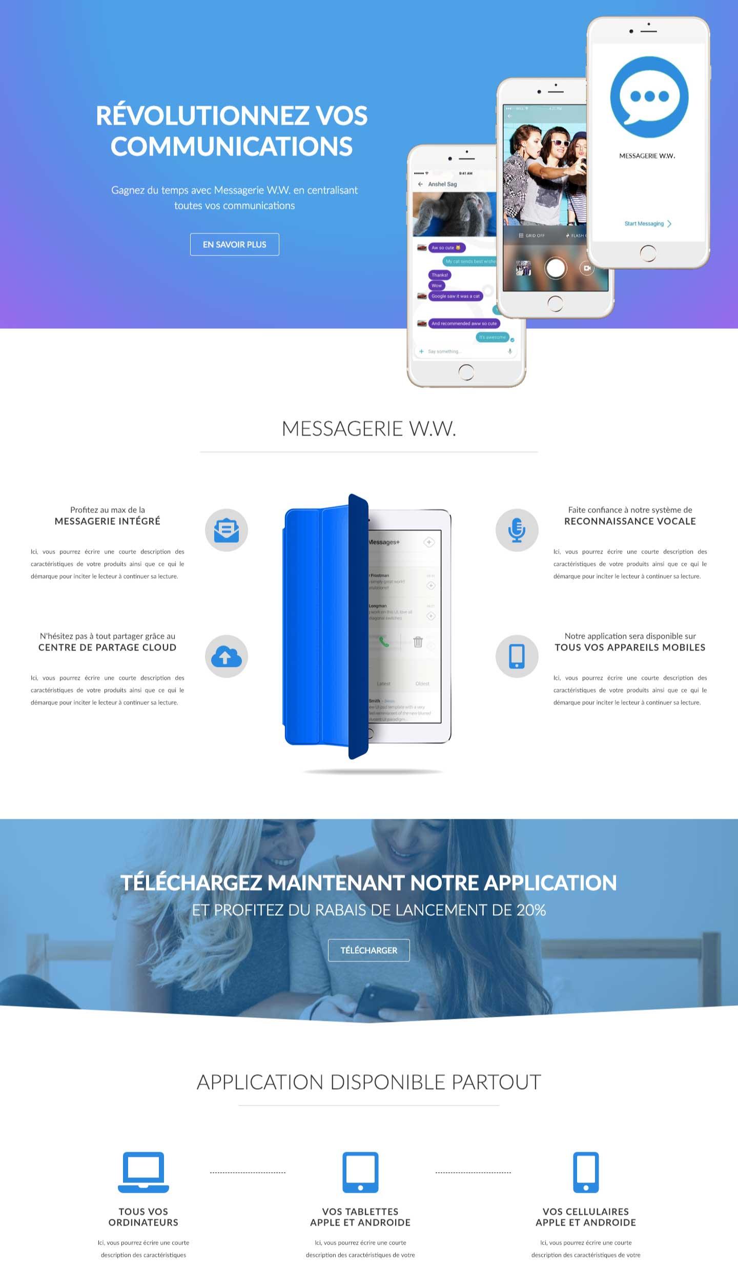 Modele-page-web-produit-app