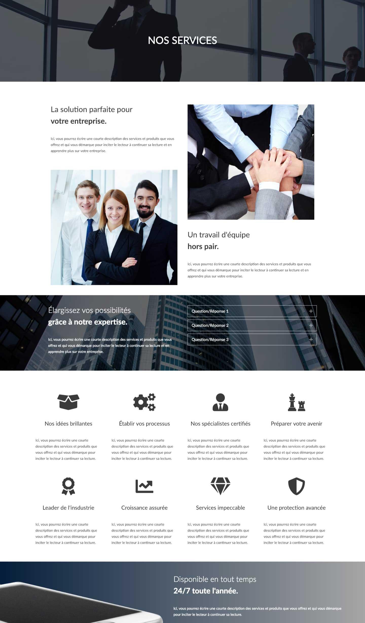 Modele-page-web-service-classique