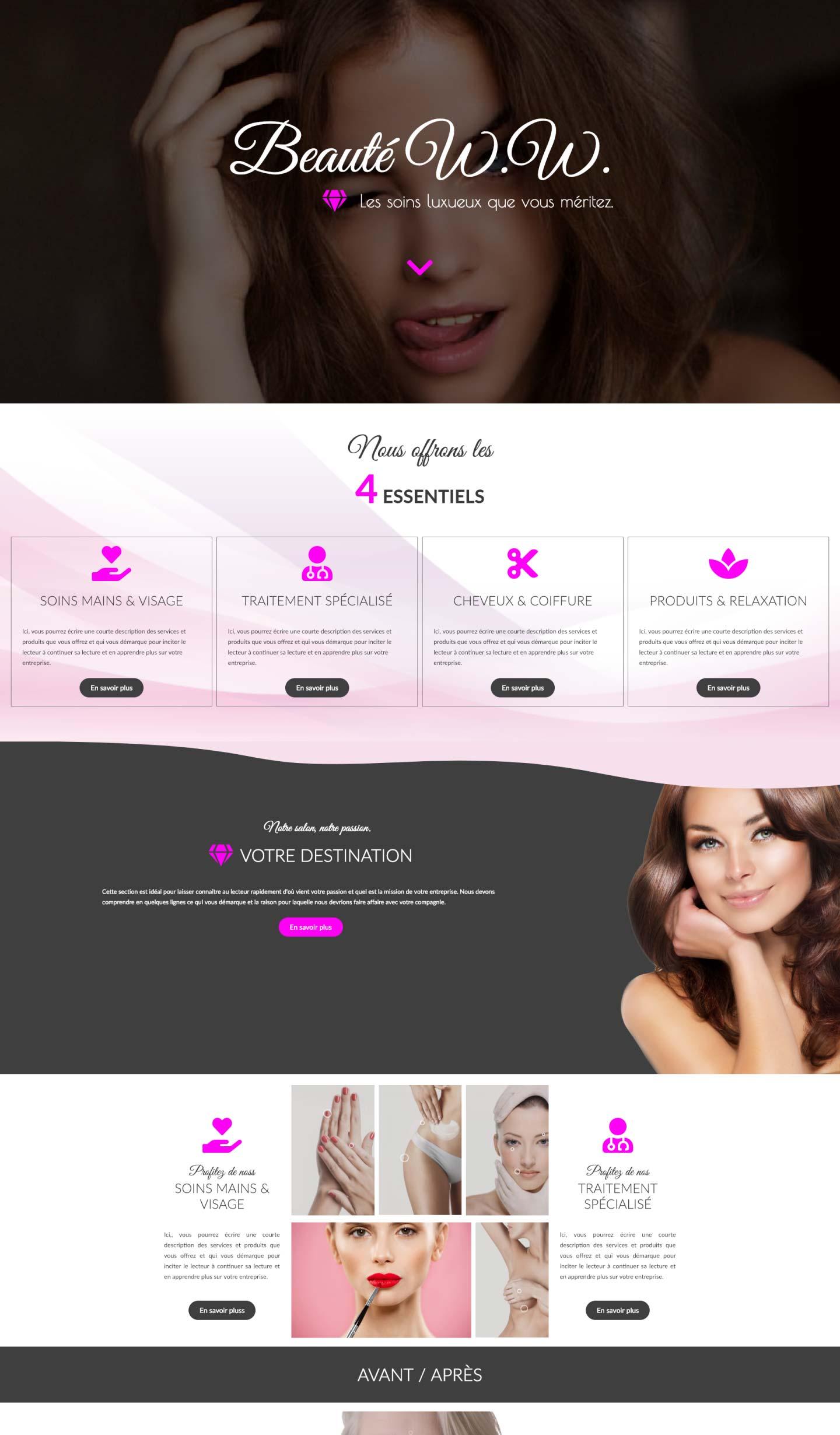 Modele-page-web-salon-beaute-Conception-site-web